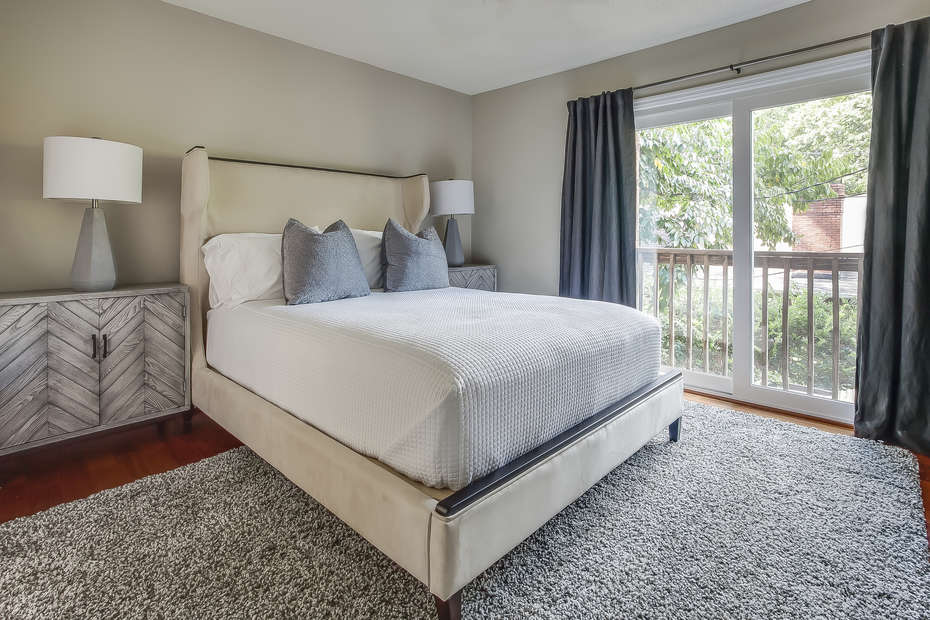 Guest bedroom at this Poncey Highlands Rental