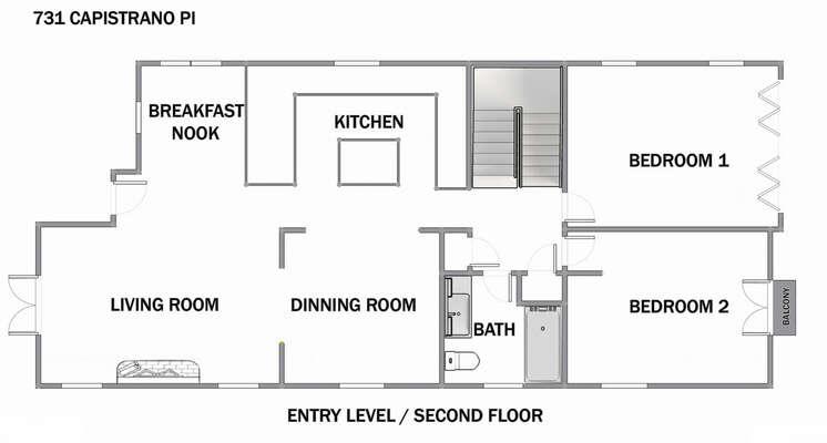 Floor Plan - Entry Level/Second Floor