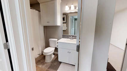 1st floor Full Bath with Tub/Shower Combo and Single Sink