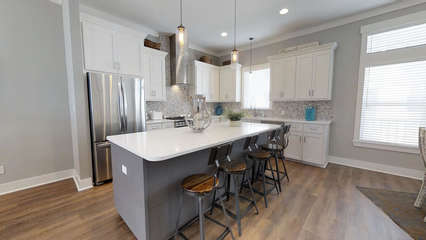 Kitchen with Stainless Appliances and Large Island