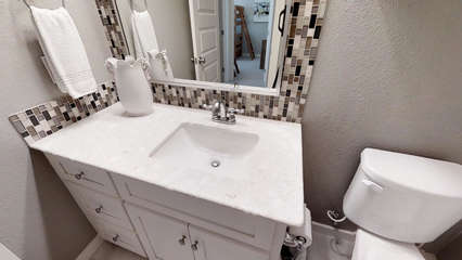 Full Bath with Tub on 3rd Floor that is shared by Queen and Bunk Bedrooms