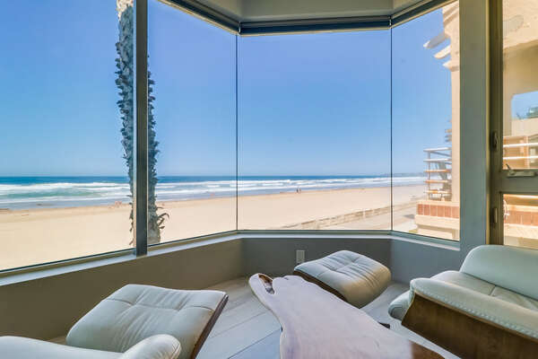 Oceanfront View  from Living room.