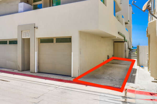 1 carport of this Mission Beach oceanfront rental