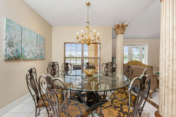 Enjoy a fancy dinner on this beautiful dining today for the whole family