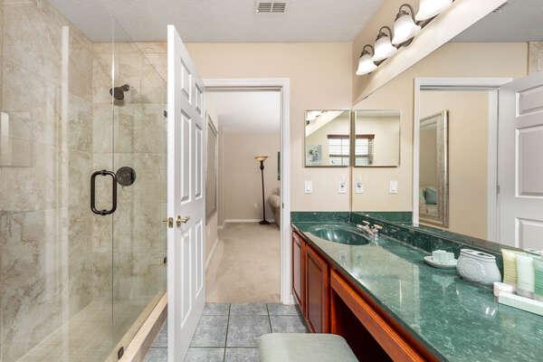 Unique interior design in bathroom