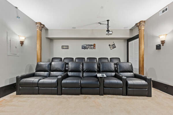 Luxury theatre with seating for 12 people