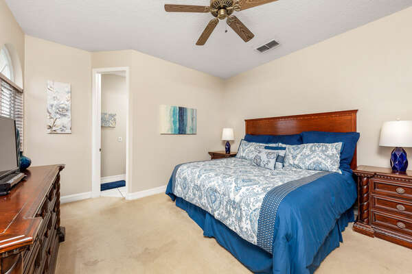 Relax in this light and airy upstairs king bedroom