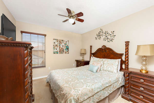 Youll love relaxing in this elegant downstairs queen bedroom