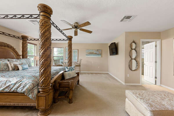 Relax in this light and airy upstairs queen bedroom