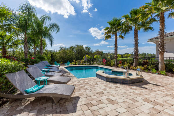 Catch the Florida sun in the west facing pool