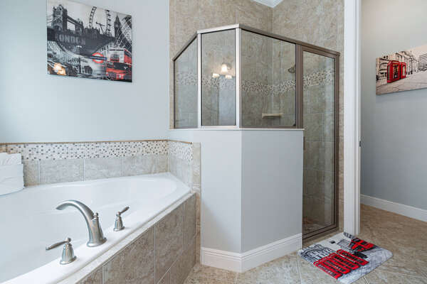 Shower or soak in your private bathroom
