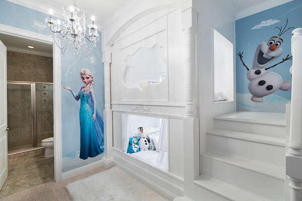 The princesses will love their bedroom