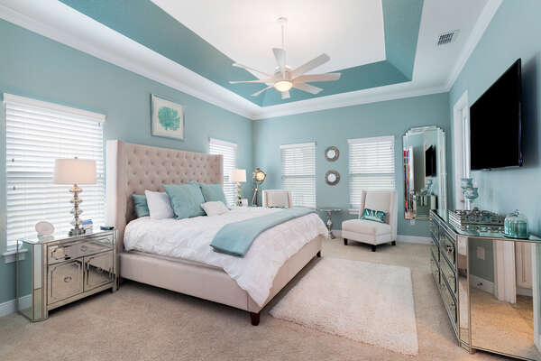 Mom and dad will love having their own luxurious bedroom