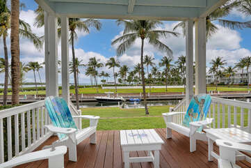 Enjoy the keys lifestyle on your porch, overlooking your boat slip, the pool and the Gulf of Mexico!