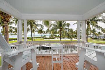 Private balcony off master