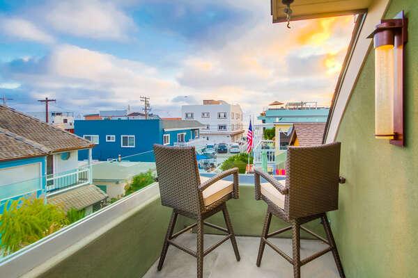Enjoy a Master Deck with Ocean Views.