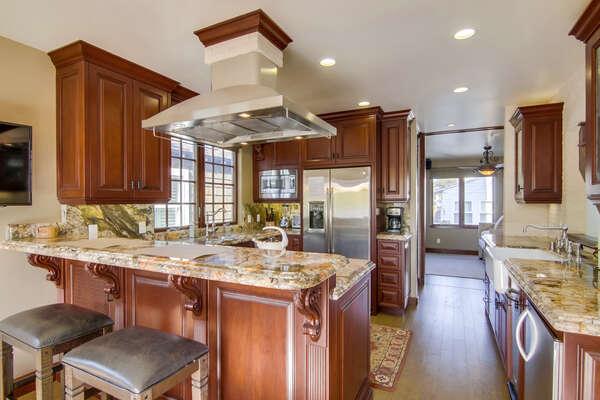 Luxury Kitchen in San Diego Rental in Mission Beach.