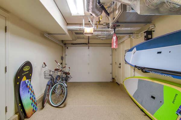 Garage with Beach Supplies