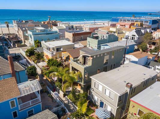 Aerial View of San Diego Beach Community.