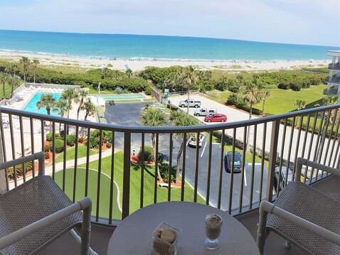 Very large & spacious balconies with direct ocean views & seating for the whole family!