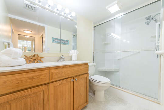 Ensuite master bathroom with a walk-in shower