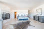 Ocean view Mediterranean contemporary Villa - bedroom with fireplace! and on suite bathroom