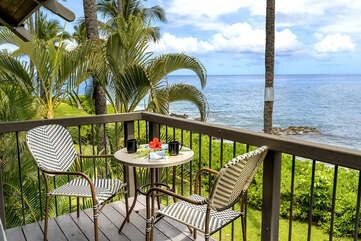Perfect for morning coffee & take in the ocean sights!