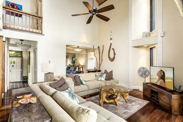 Great room with comfortable furnishings