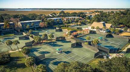 We are located right across from the Racquet Club, which has 15 Har-Tru clay tennis courts, pickleball courts and a Pronshop.  Lessons are available.