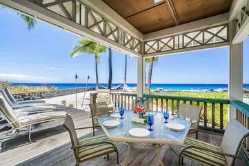 Outside dining with Ocean Views