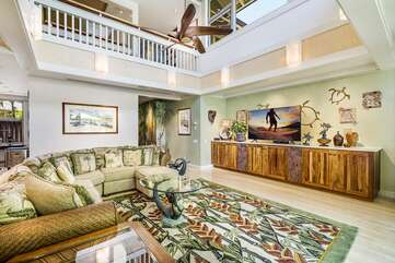 Great Room with Couches and TV