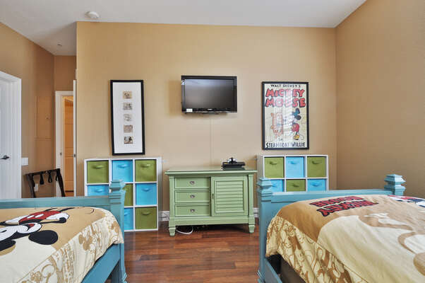 Kids will love having everything they need in their bedroom with a TV and gaming system