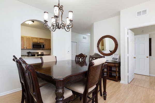 Enjoy family meals at this beautiful dining table that seats 6
