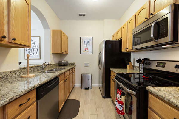 Fully equipped kitchen to help you save money and also spend quality time together