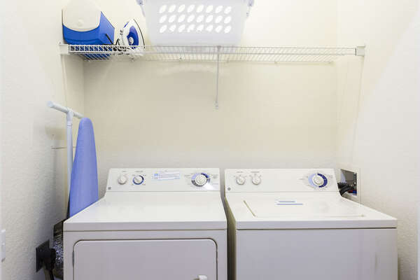 A washer and dryer are available for your use