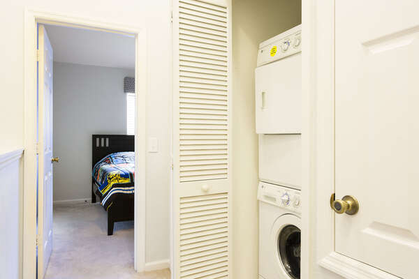 The townhome has a washer and dryer on the second floor available for your use