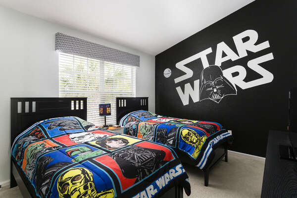 Kids will love having their own custom galactic bedroom!