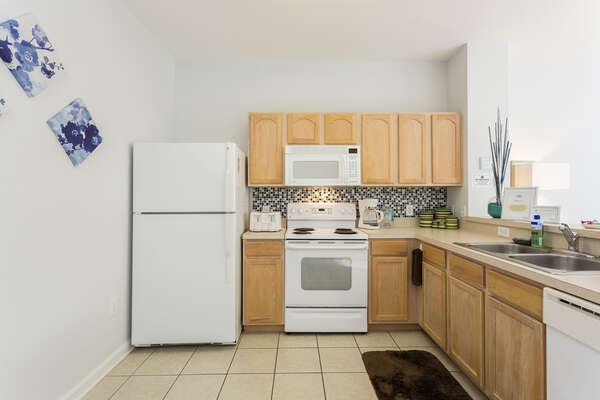The updated kitchen has everything your family will need for delicious meals