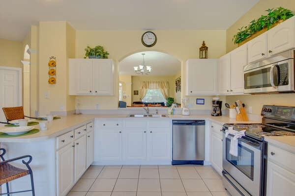 The fully-equipped kitchen is perfect for preparing delicious family meals