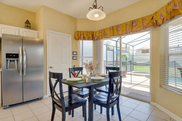 Enjoy a quick meal sitting in the kitchen nook