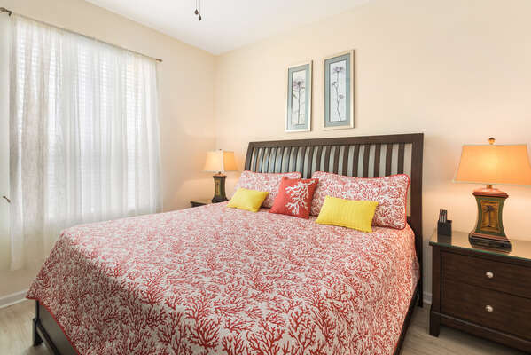 The master bedroom features a comfy King
