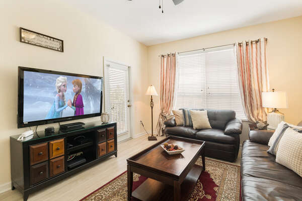 Relax in your large living room where you can all sit and watch a family movie