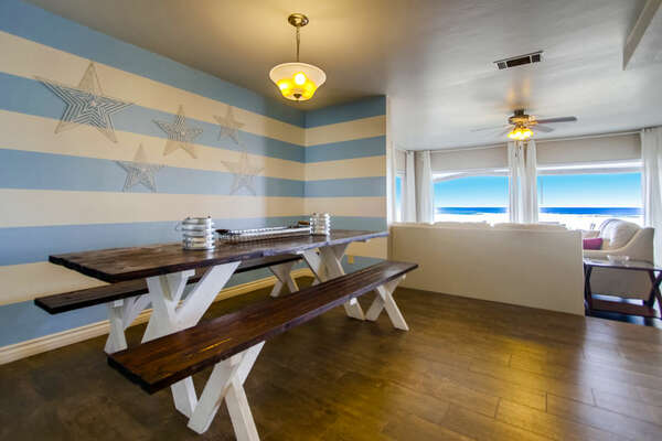 Dining Area with Picnic Table.