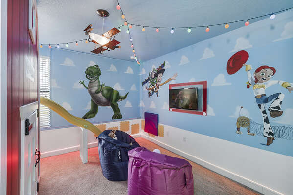 Shrink to the size of a toy in this fun bedroom
