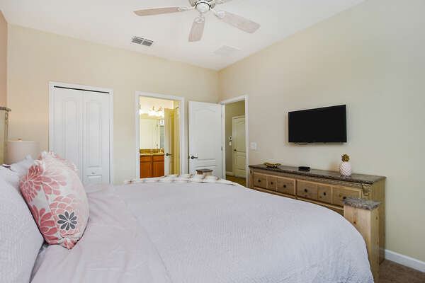 Every bedroom features luxury furnishings and accommodations