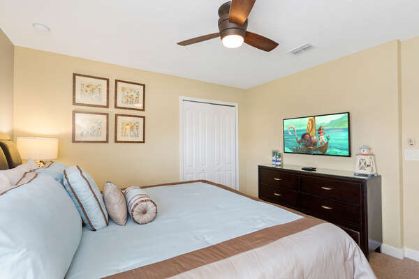 This bedroom has a SMART TV