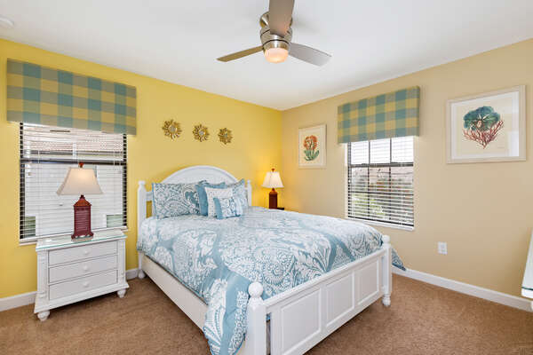 This Queen sized bedroom is on the second floor
