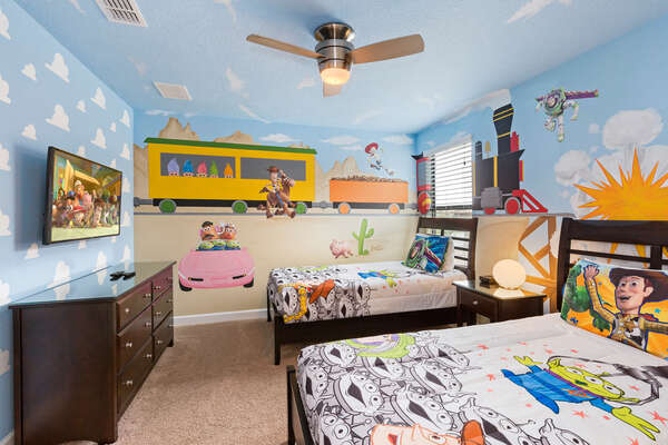Kids will have their own SMART TV in their fun bedroom