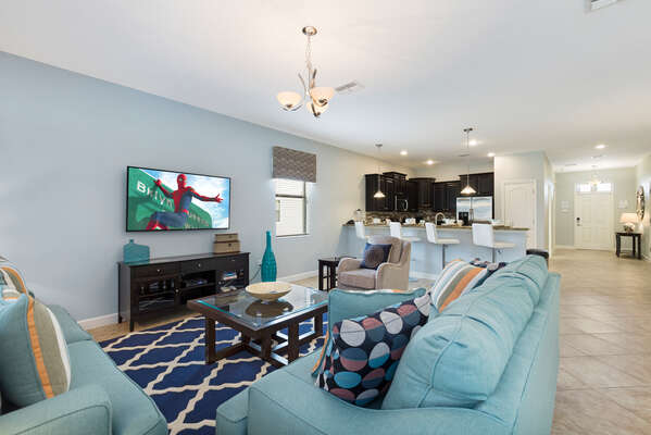 An open floor plan throughout for easy entertainment