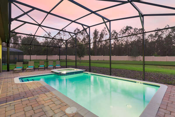 Spend evenings with your family by the pool